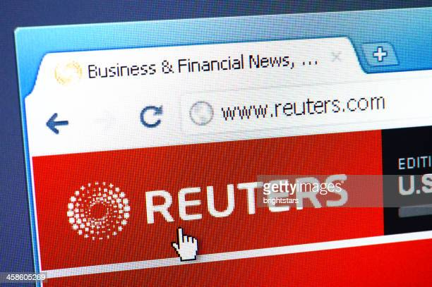 Reuters webpage on the browser