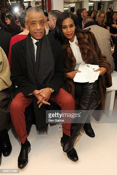 Rev Al Sharpton and Aisha Mcshaw attend the Ralph Rucci fashion show during MercedesBenz Fashion Week Fall 2014 on February 9 2014 in New York City