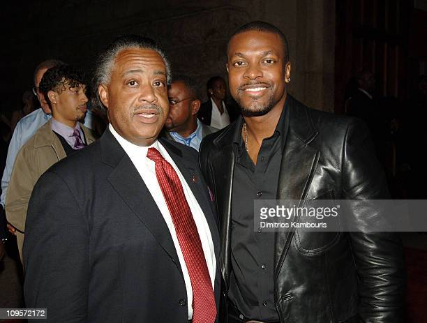 Rev Al Sharpton and Chris Tucker during LIVE 8 Philadelphia Will Smith Celebrates LIVE 8 With a PreLaunch Party at 23rd Street Armory in Philadelphia...