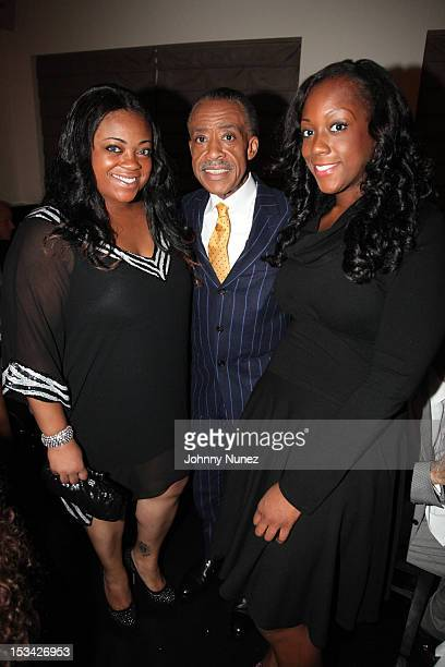 Rev Al Sharpton celebrates his birthday with his daughters Ashley and Dominique at Philippe Chow on October 4 2012 in New York City