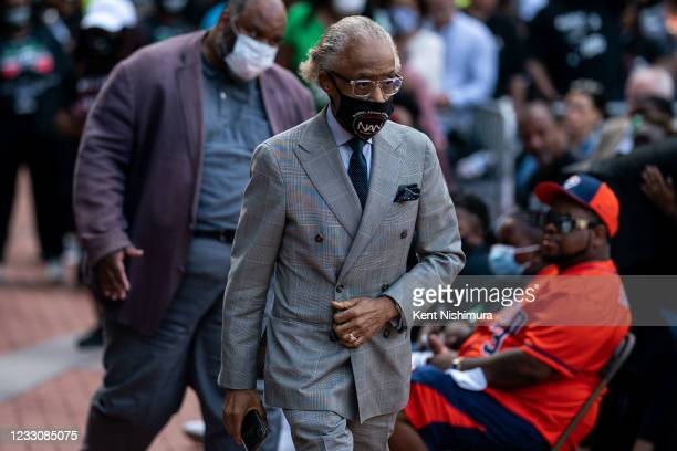 Rev. Al Sharpton during the inaugural remembrance rally and march hosted by the George Floyd Global Memorial, commemorating the first anniversary of...