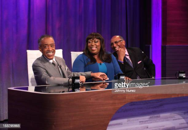 Rev Al Sharpton Loni Love and Michael Steele visit 'Don't Sleep' at BET Studios on October 2 2012 in New York City
