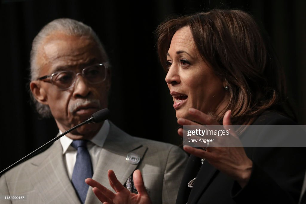 Presidential Candidates And Politicians Attend National Action Network Annual Convention : ニュース写真