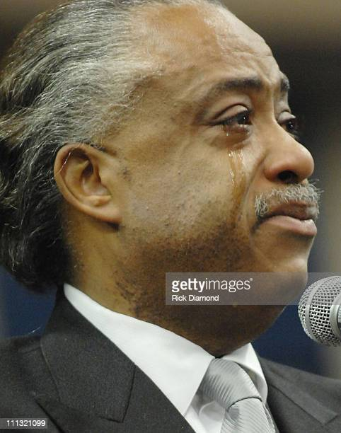 Rev. Al Sharpton pays his respects to the late James Brown who is lying in repose at the James Brown Arena in Augusta, Georgia. Brown, widely known...