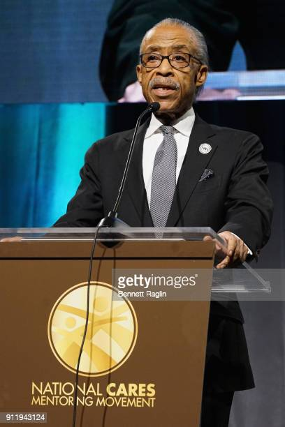 Rev Al Sharpton speaks onstage at the National CARES Mentoring Movement's third annual For The Love Of Our Children Gala on January 29 2018 in New...