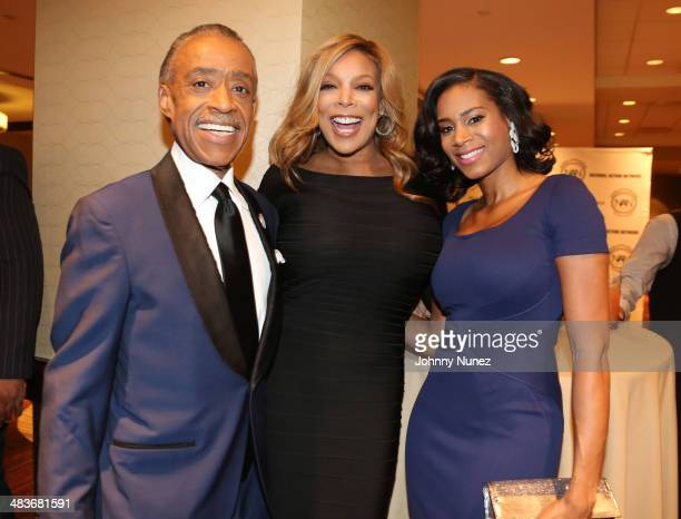 Rev Al Sharpton Wendy Williams and Aisha McShaw attend the 2014 National Action Networks' Keepers Of The Dream Awards at Sheraton Times Square on...