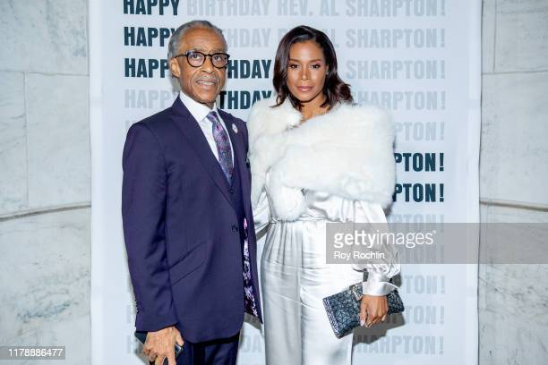Rev Al Sharpton with Aisha McShaw attend his 65th Birthday Celebration at New York Public Library Stephen A Schwartzman Building on October 03 2019...