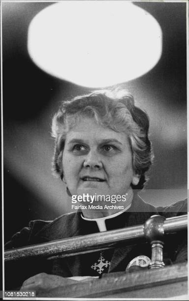 Rev Alison Cheek a guest ***** at the Synod and who was ordained in the US in 1973 pictured in the public galleryThe Anglican Synod which is taking...