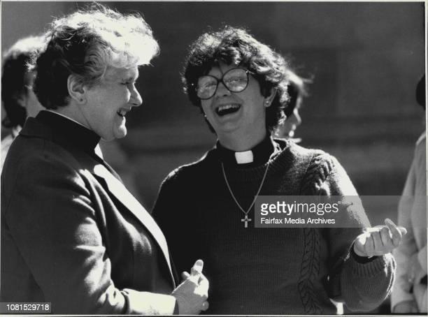 Rev Alison Cheek from Pennsylvania Rev Elizabeth Smith Deacan St Eanswythe Altona ***** August 22 1987