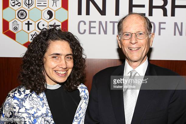 Rev Chloe Breyer and Peter Zimroth attend the 12th Annual James Parks Morton Interfaith awards dinner at Hilton Hotel Midtown on June 5 2014 in New...