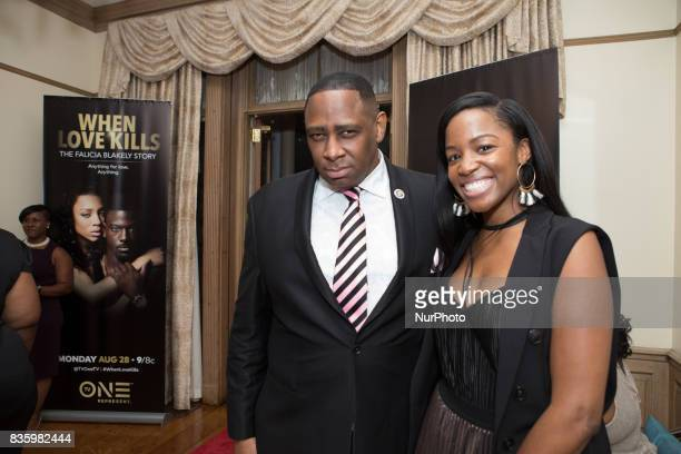 Rev Dr George E Holmes and Krystal Franklin Sr Producer Digital amp Social Media Marketing and Creative Services attended TV One's DC Premiere of...