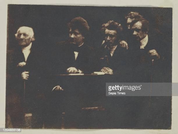 Rev Dr George Muirhead Rev Dr William Cunningham Rev Dr James Begg John Hamilton and Rev Dr Thomas Guthrie Hill Adamson Scotland 18431847 Salted...