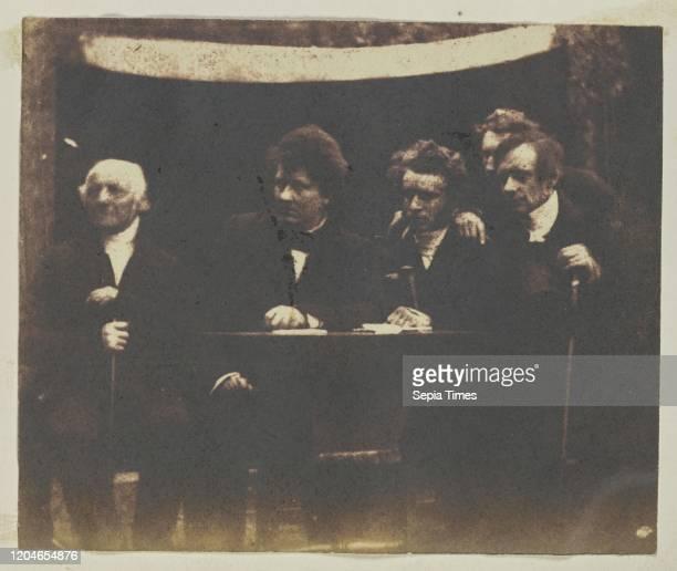 Rev Dr George Muirhead Rev Dr William Cunnningham Rev Dr James Begg John Hamilton and Rev Dr Thomas Guthrie Hill Adamson Scotland 18431848 Salted...