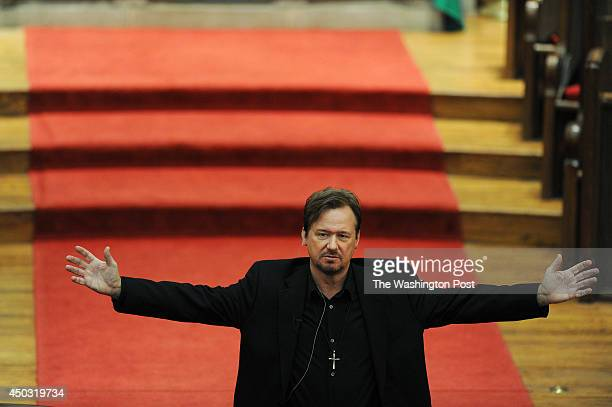 Rev Frank Schaefer speaks at Foundry United Methodist Church on Sunday January 26 2014 in Washington DC Schaefer was defrocked by the United...