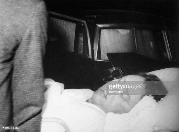 Rev James Reeb Boston Unitarian minister is shown unconscious in an ambulance that brought him to Birmingham hospital from Selma where he was...