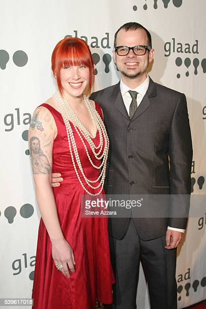 Rev Jay Bakker and wife arrive at the 18th annual Gay Lesbian Alliance Against Defamation Media Awards in New York City
