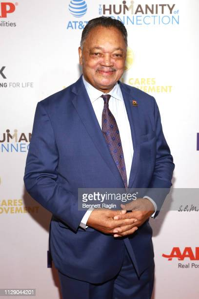 Rev Jesse Jackson attends the National CARES Mentoring Movement 4th Annual For The Love Of Our Children Gala at The Ziegfeld Ballroom on February 11...