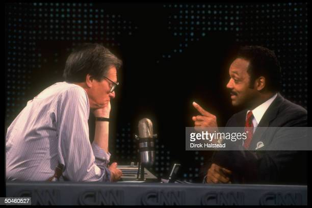 Rev. Jesse Jackson, , interviewed by cable TV talk show host Larry King on Larry King Live, on election night.