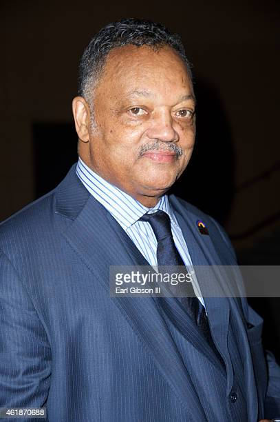 Rev Jesse Jackson Sr attends the Andrae Crouch Memorial Celebration Of Life at West Angeles Church of God And Christ on January 20 2015 in Los...