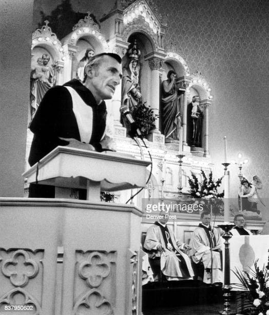 Rev Mark M Franceschini gives the Homily during the Liturgy of Thanks giving for the Release from Captivity of I Martin Jenco held captive for 19...