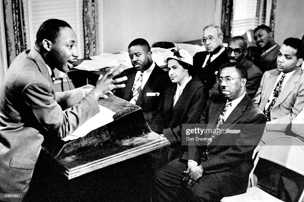 Martin Luther King Jr. Outlines Boycott Plans : News Photo