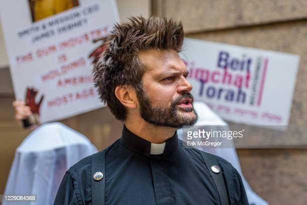 Rev. Micah Bucey, Judson Memorial Church - Today GAG NY, NYAGV, NAN, Judson Church, CBST, MCC NY, NYC PA , and Public Advocate Tish James held a...