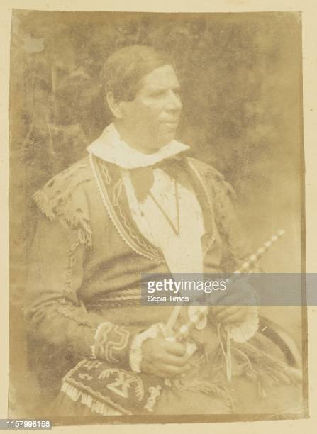[Rev Peter Jones] Hill Adamson Scottish active 1843 1848 Scotland Europe August 4 1845 Salted paper print from a Calotype negative Image 211 x 152 cm...
