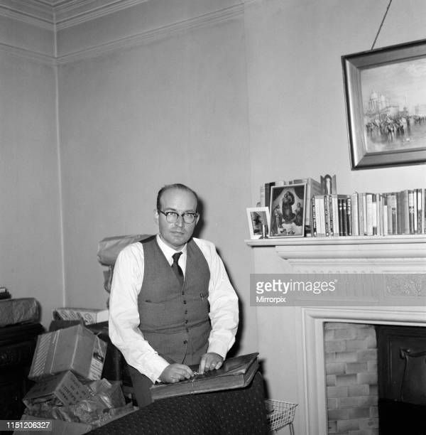 Rev. Robert Parkin Peters pictured ahead of moving abroad to start a new life following time in jail for bigamy, fraud and larceny. 20th March 1959.