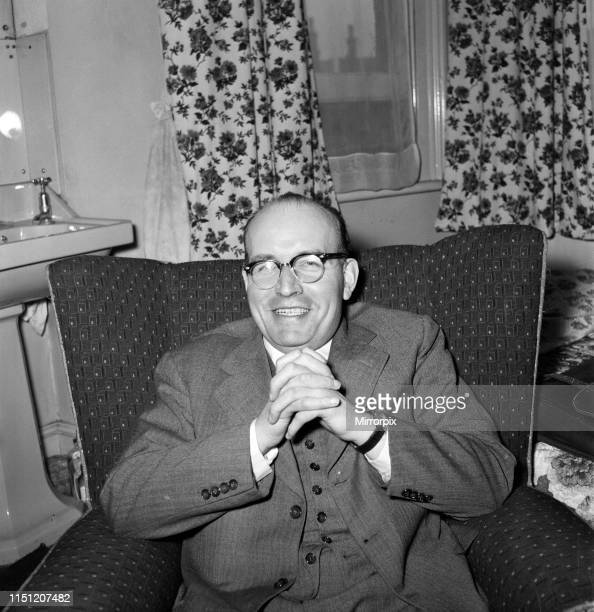 Rev Robert Parkin Peters pictured ahead of moving abroad to start a new life following time in jail for bigamy fraud and larceny 20th March 1959