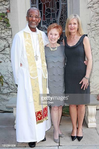Rev Ronald David Deborah David and Marilyn Wells pose at St James' Episcopal Church on November 3 2011 in Los Angeles California