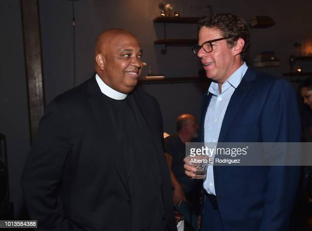 Rev Run and Andrew Reich attend the after party for a screening of Netflix's 'All About The Washingtons' on August 8 2018 in Hollywood California