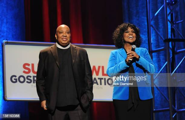 Rev Run and Cece Winans perform at the Super Bowl Gospel Celebration 2012 at Clowes Memorial Hall of Butler University on February 3 2012 in...