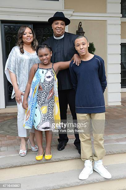 Rev Run and his wife Justine are going to be in a show Rev Run's Sunday Suppers on the Cooking Channel with their children Russy Jr and Miley Photo...