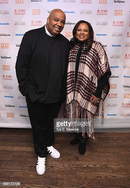 Rev Run and Justine Simmons attend Midnight Jazz Breakfast hosted by Rev Run and Justine Simmons presented by Smithfield sponsored by Mashable part...