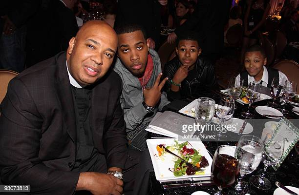 Rev Run JoJo Simmons Diggy Simmons and Russy Simmons attend the Russell Simmons Diamond Empowerment Fund Dallas Rocks Benefit Dinner on November 14...