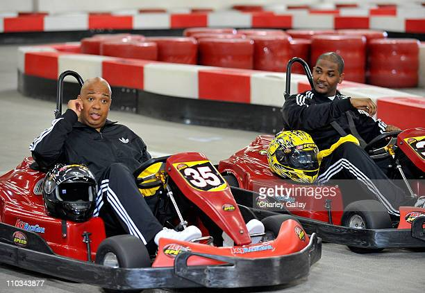 **EXCLUSIVE** Rev Run of RUNDMC meets his daughter Vanessa's boyfriend Mike Wayans the son of Damon Wayans and star of the new movie Dance Flick for...