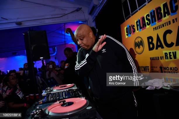 Rev Run performs during the Food Network Cooking Channel New York City Wine Food Festival Presented By Capital One 90's Flashback Friday Presented By...