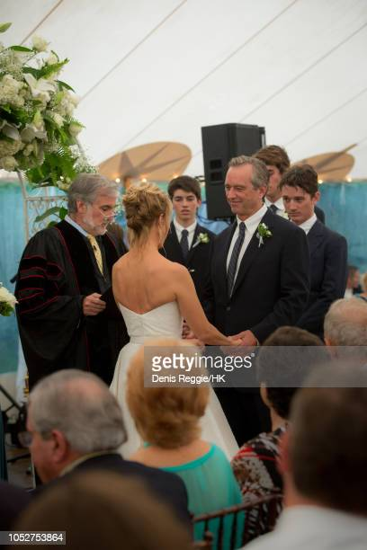 Rev Shultz officiates Cheryl Hines and Robert F Kennedy Jr Wedding at a private home on Saturday August 2 in Hyannis Port Massachusetts United...