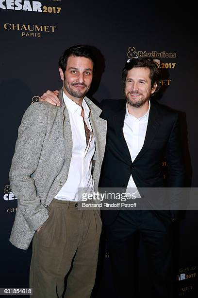 Revalation for 'Tout tout de suite' Marc Ruchmann and his sponsor Guillaume Canet attend the 'Cesar Revelations 2017' Photocall and Cocktail at...
