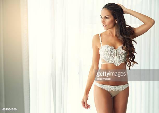 Revealing her striking sensuality