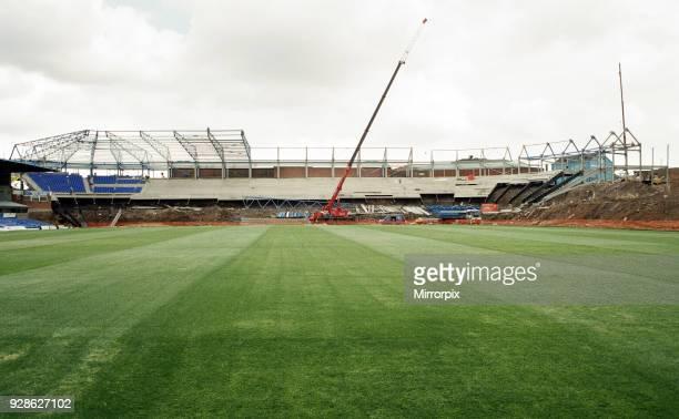 Revedelopment work under way at St Andrews stadium, home ground of Birmingham City football club, 5th July 1994.