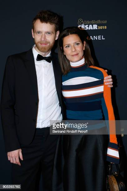 Revelation for '120 battements par minute' Antoine Reinartz and his sponsor Marina Fois attend the 'Cesar Revelations 2018' Party at Le Petit Palais...