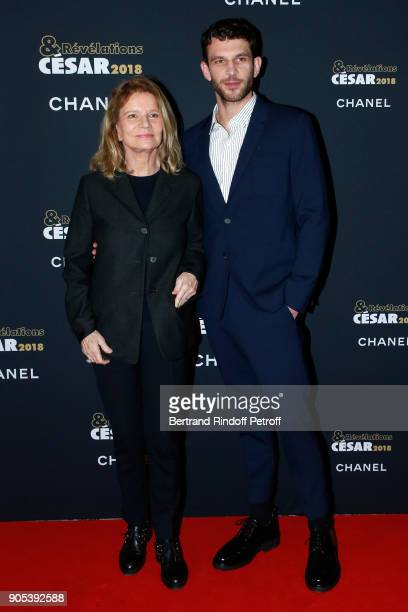 Revelation for '120 battements par minute' Arnaud Valois and his sponsor Nicole Garcia attend the 'Cesar Revelations 2018' Party at Le Petit Palais...