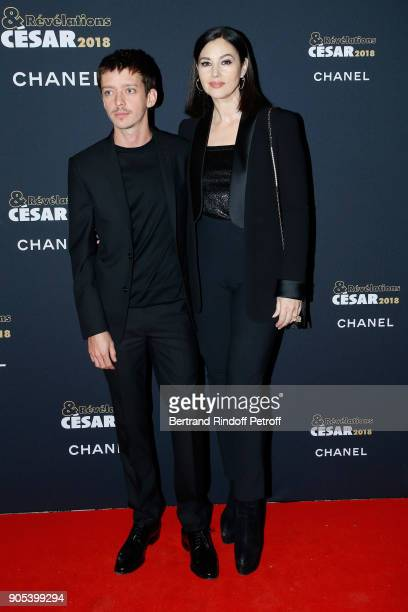 Revelation for '120 battements par minute' Nahuel Perez Biscayart and his sponsor Monica Bellucci attend the 'Cesar Revelations 2018' Party at Le...