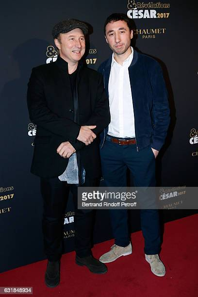 Revelation for 'Chouf' Sofian Khammes and his director Karim Dridi attend the 'Cesar Revelations 2017' Photocall and Cocktail at Chaumet on January...