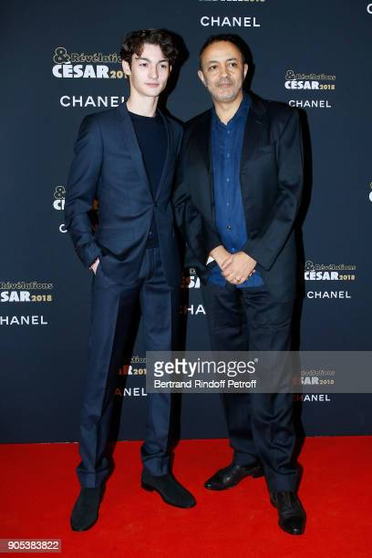 Revelation for 'De toutes mes forces' Khaled Alouach and his director in the movie Chad Chenouga attend the 'Cesar Revelations 2018' Party at Le...