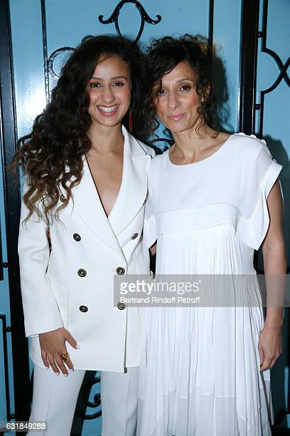 Revelation for Divines Oulaya Amamra dressed in Chloe and her director Houda Benyamina attend the Cesar Revelations 2017 Photocall and Cocktail at...