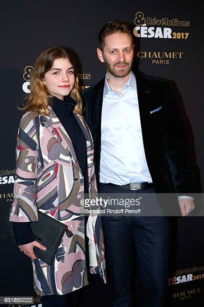 Revelation for Keeper Galatea Bellugi and her director Guillaume Senez attend the Cesar Revelations 2017 Photocall and Cocktail at Chaumet on January...