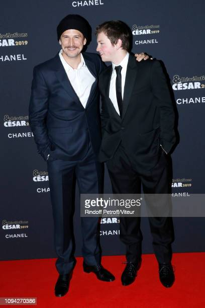 Revelation for 'La priere' Anthony Bajon and his sponsor Guillaume Canet attend the 'Cesar Revelations 2019' at Le Petit Palais on January 14 2019 in...