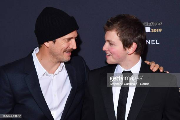 Revelation for 'La priere' Anthony Bajon and his sponsor Guillaume Canet attend the 'CesarRevelations 2019' at Le Petit Palais on January 14 2019 in...